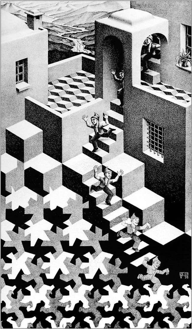 Description of the painting by Maurits Escher Cycle