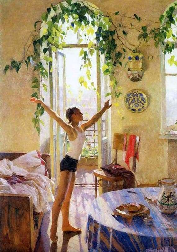 Description of the painting by Tatiana Yablonskaya Morning