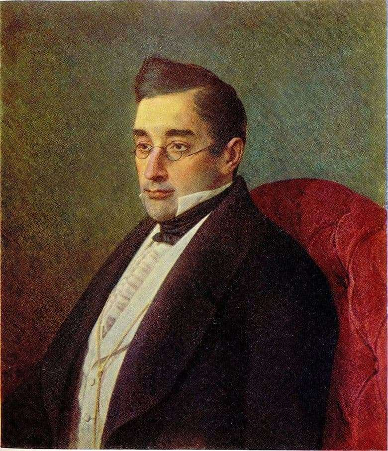 Description of the painting by Ivan Kramsky Portrait of Griboyedov