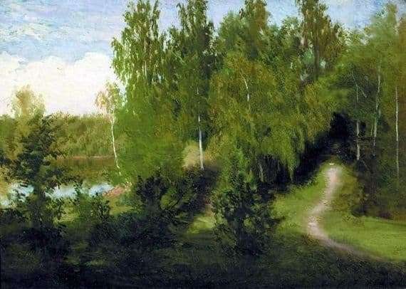 Description of the painting by Ivan Kramsky Forest Path