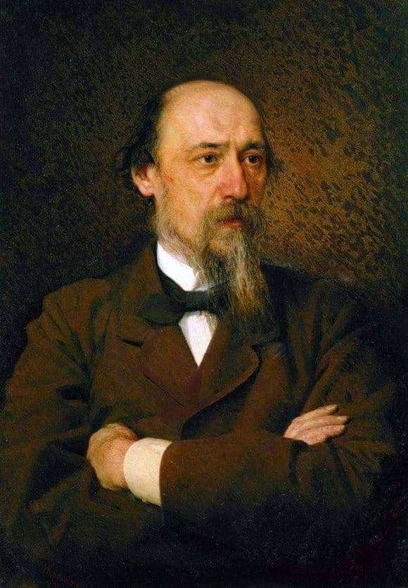 Description of the painting by Ivan Kramsky Portrait of Nekrasov