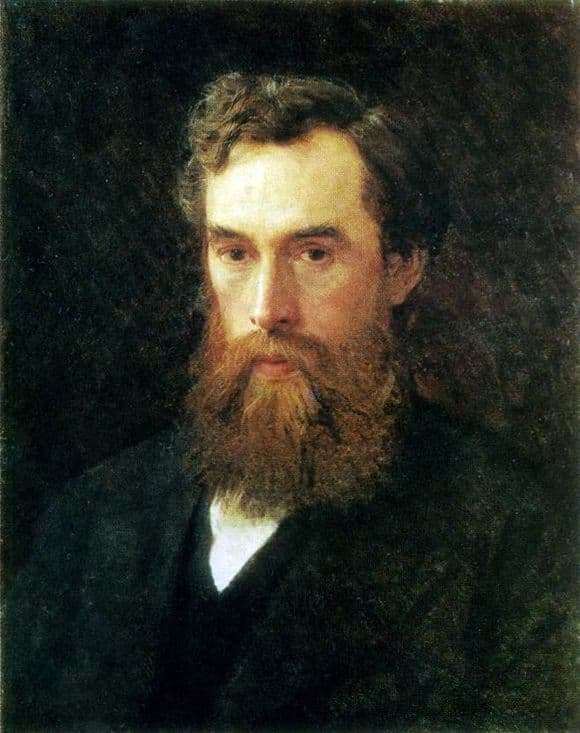 Description of the painting by Ivan Kramsky Portrait of P. M. Tretyakov