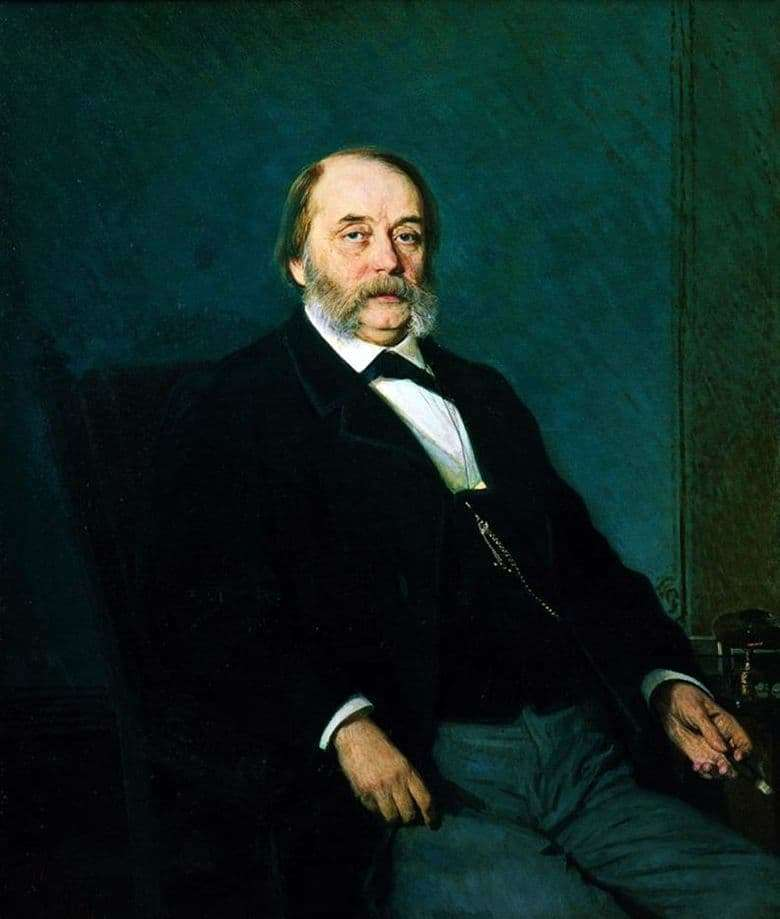 Description of the painting by Ivan Kramsky Portrait of I. A. Goncharov