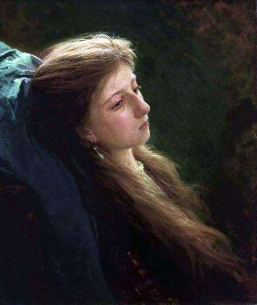 Description of the painting by Ivan Kramskoy Girl with a loose scythe