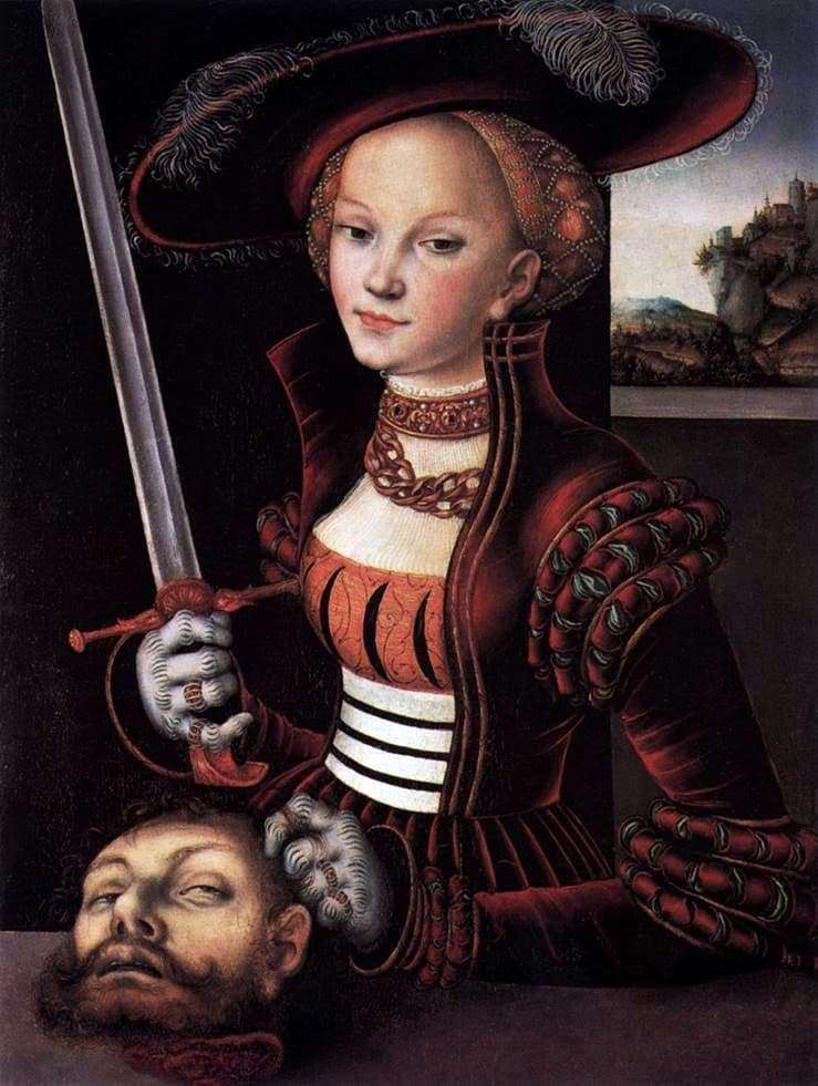 Description of the painting by Lucas Cranach Judith with the head of Holofernes