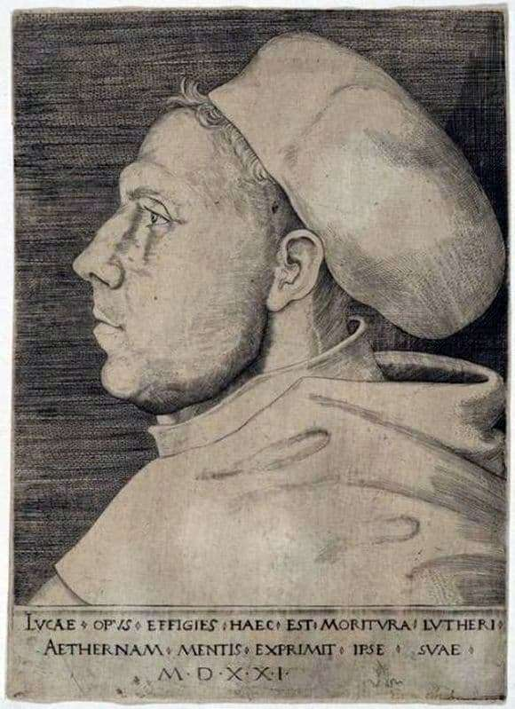 Description of the painting by Lucas Cranach Martin Luther