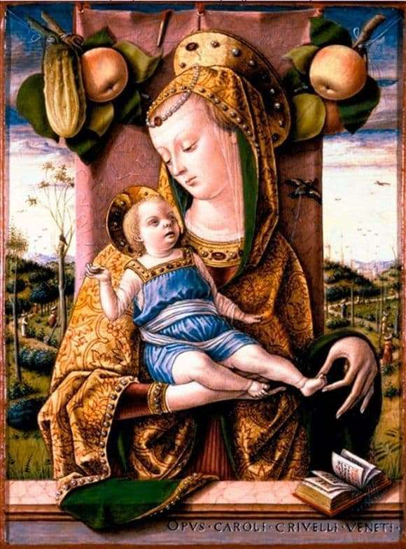 Description of the painting by Karl Crivelli Madonna and Child