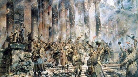 Description of the painting by Peter Krivonogov Victory