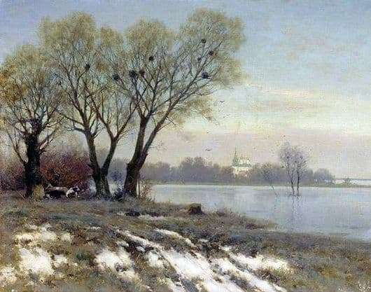 Description of the painting by Konstantin Kryzhitsky Early Spring