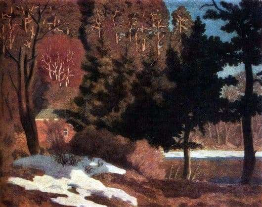 Description of the painting by Nikolay Krymov First Snow