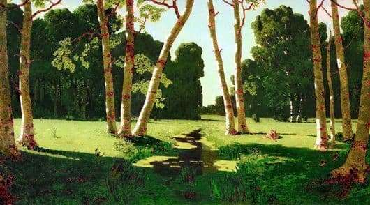 Description of the painting by Arkhip Kuindzhi Birch Grove