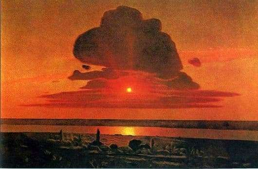 Description of the painting by Arkhip Kuindzhi Red Sunset