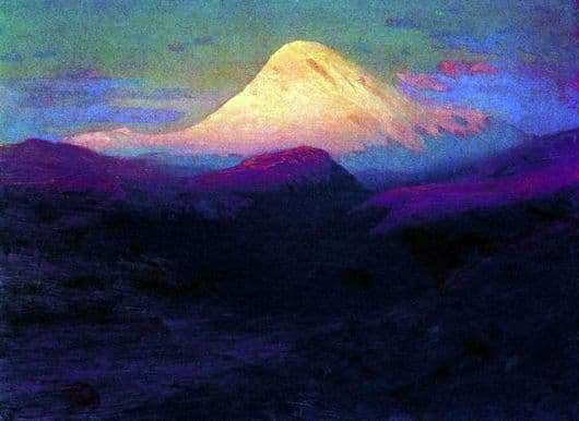 Description of the painting by Arkhip Kuindzhi Elbrus in the evening