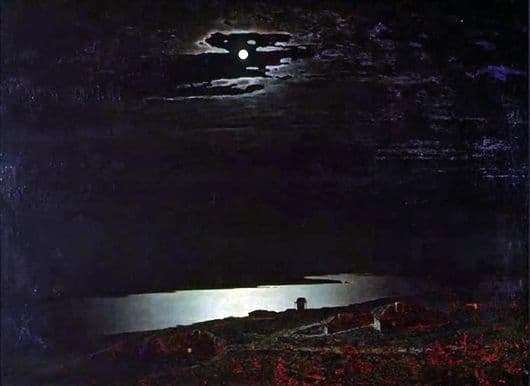 Description of the painting by Arkhip Kuindzhi Moonlit night on the Dnieper