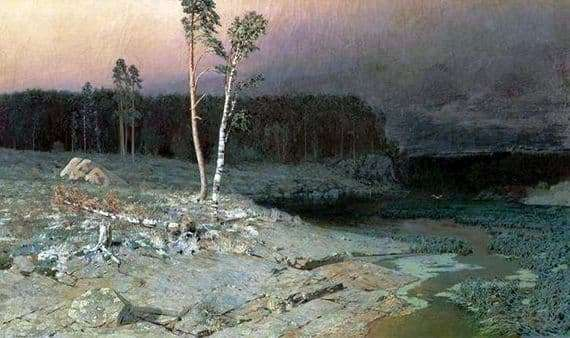 Description of the painting by Arkhip Kuindzhi On the island of Valaam