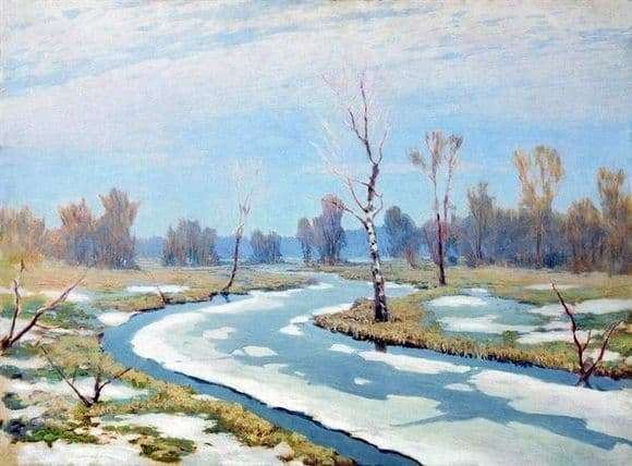 Description of the painting by Arkhip Kuindzhi Early Spring
