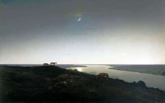 Description of the painting by Arkhip Kuindzhi Night