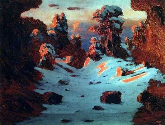 Description of the painting by Arkhip Kuindzhi Sunset effect