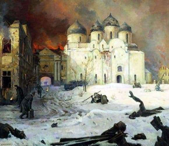 Description of the painting by Kukryniksy The Escape of the Nazis from Novgorod