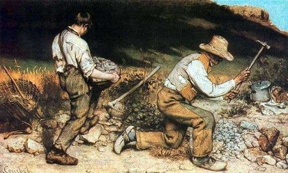 Gustave Courbets Picture of Stone Crushers