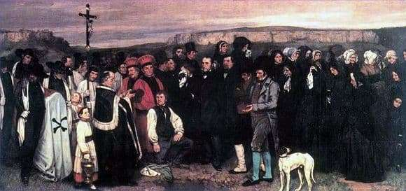 Gustave Courbets painting The Funeral in Ornan