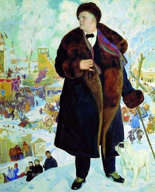 Description of the painting by Boris Kustodiev Portrait of Chaliapin