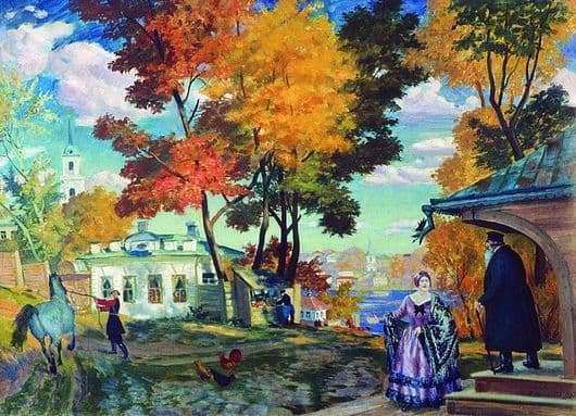 Description of the painting by Boris Kustodiev Autumn
