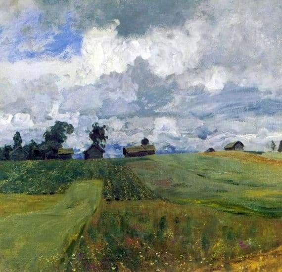 Description of the painting by Isaac Levitan Stormy Day