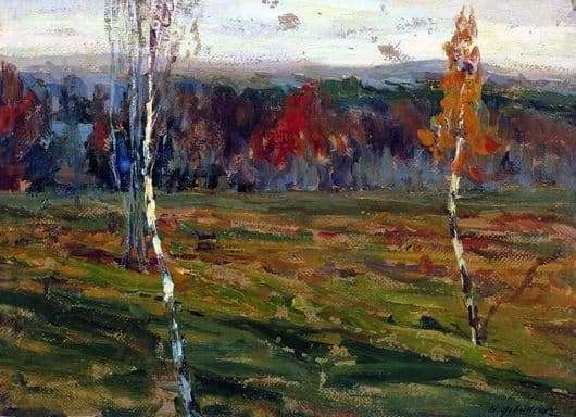 Description of the painting by Isaac Levitan Autumn. Birches
