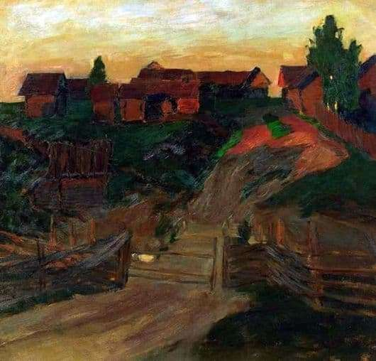 Description of the painting by Isaac Levitan Last rays of the sun