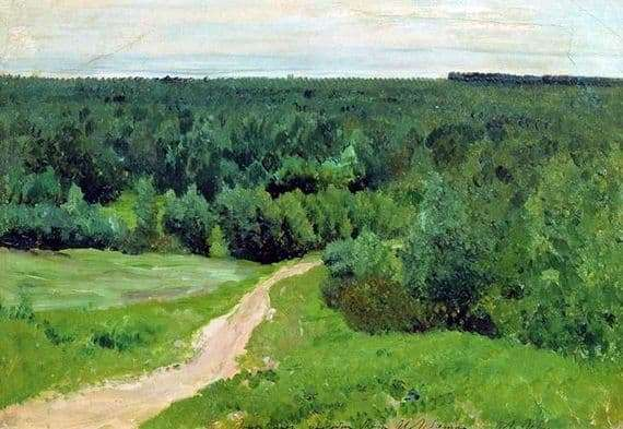 Description of the painting by Isaac Levitan Forest Dali