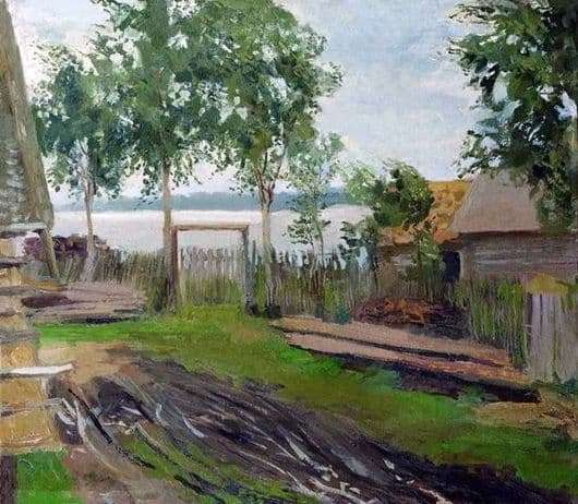 Description of the painting by Isaac Ilyich Levitan Yard