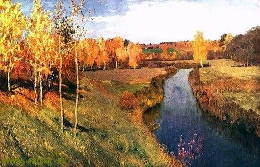 Description of the painting by Isaac Levitan Golden Autumn