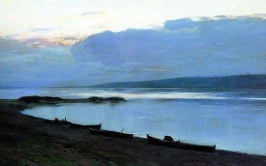 Description of the painting by Isaac Levitan Evening on the Volga