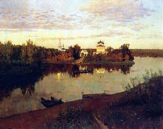 Description of the painting by Isaac Levitan Evening Bells