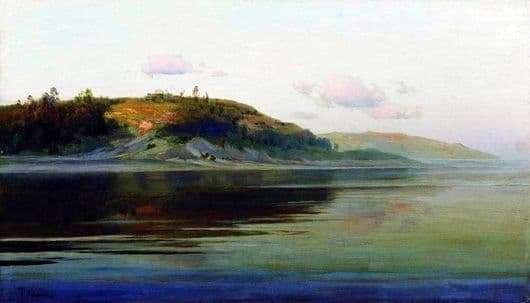 Description of the painting by Isaac Levitan Evening