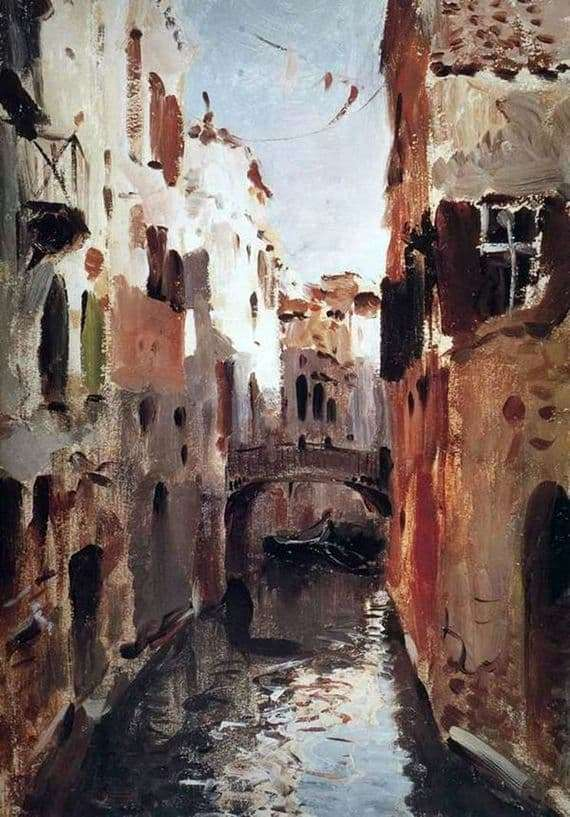 Description of the painting by Isaac Levitan Canal in Venice