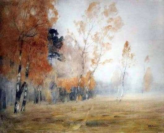 Description of the painting by Isaac Levitan Autumn. Fog