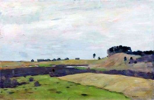 Description of the painting by Isaac Levitan Fields
