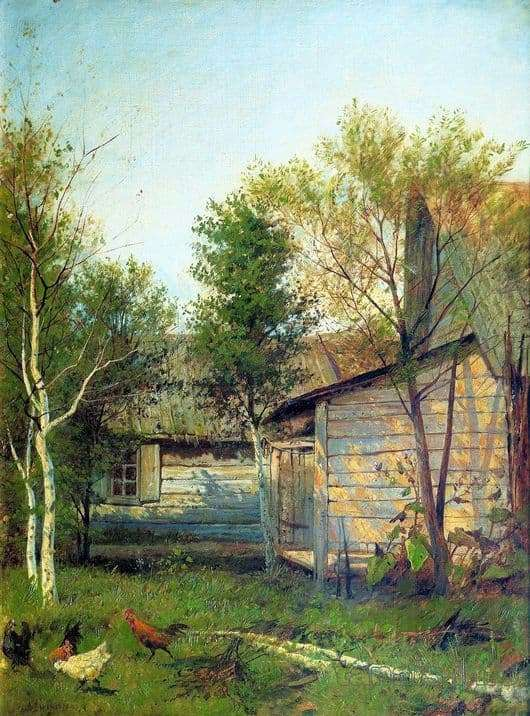 Description of the painting by Isaac Levitan Sunny day. Spring