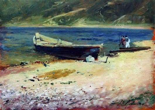 Description of the painting by Isaac Levitan Boat on the shore