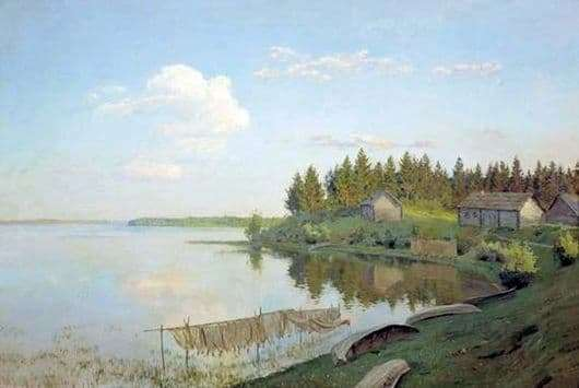 Description of the painting by Isaac Levitan On the lake