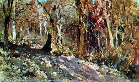 Description of the painting by Isaac Levitan Autumn Forest