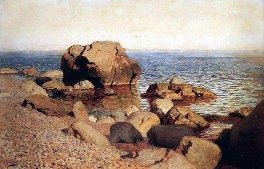 Description of the painting by Isaac Levitan At the seashore Crimea