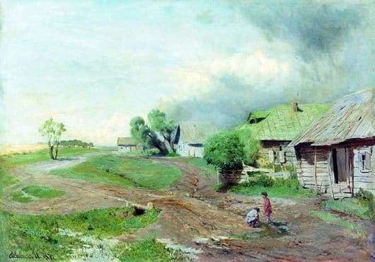 Description of the painting by Isaac Levitan Before the storm