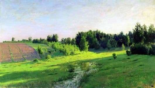 Description of the painting by Isaac Ilyich Levitan Evening shadows
