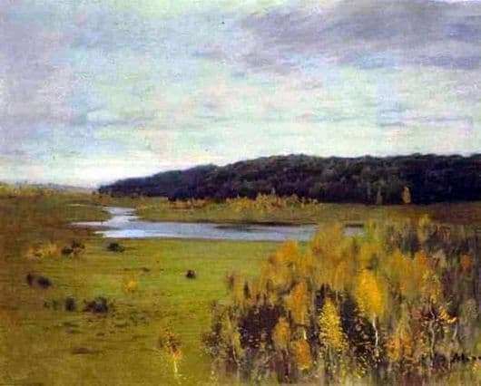 Description of the painting by Isaac Levitan River Valley