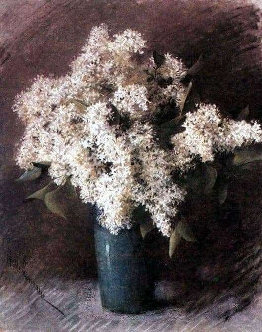 Description of the painting by Isaac Ilyich Levitan White lilac