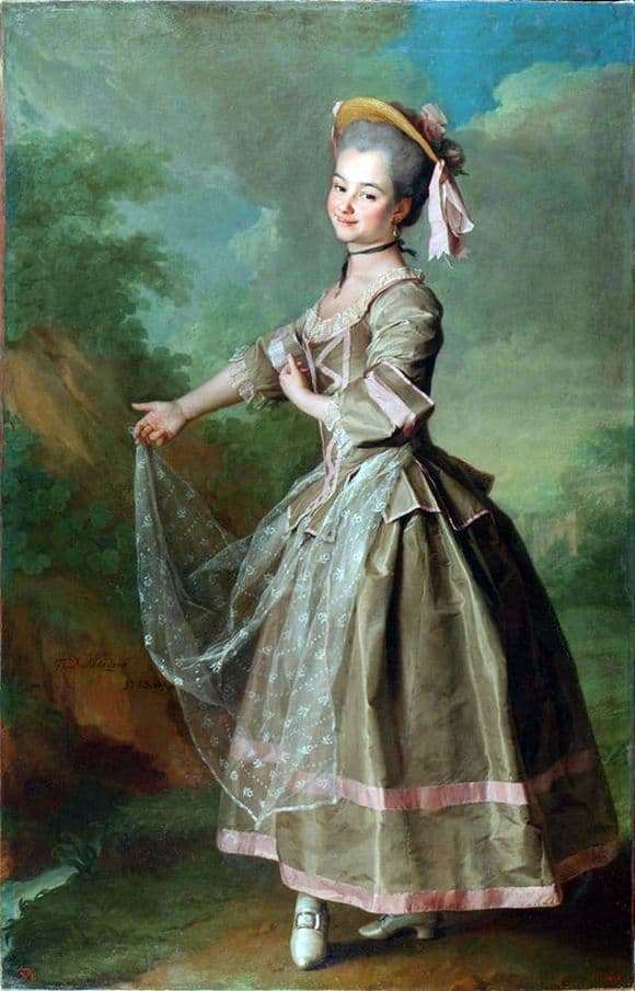 Description of the painting by Dmitry Levitsky Portrait of Nelidova