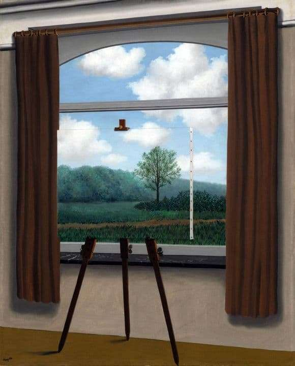 Description of the painting by René Magritte The human lot